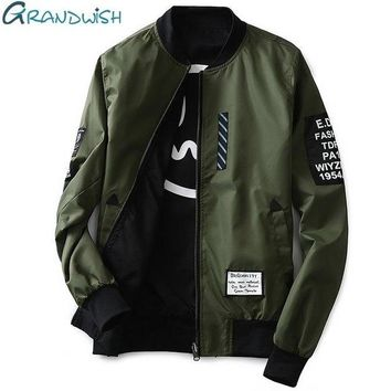 DCCKSV3 Men's Grandwish Bomber Pilot Patches Jacket