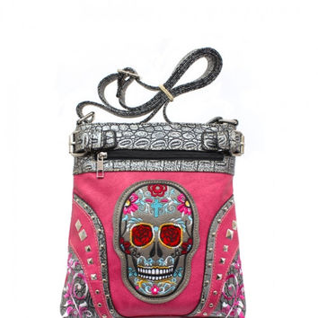Sugar Skull Concealed Carry handbag