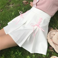 Kawaii Lace High Waisted Skirt