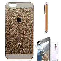 Iphone 6 plus Case, doopoo TM Luxury Beauty Diamond Shiny Sparkling Glitter with Crystal Rhinestone Pc Hard Case Cover for Iphone 6 plus (5.5 inch) (iphone 6 plus, Gold)