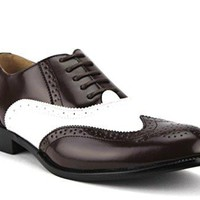 New Men's 95753 Wing Tip Formal Lace Up Oxford Shoes
