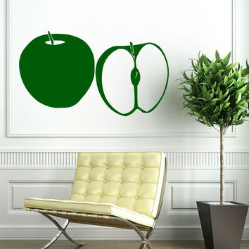 Wall Decals Vinyl Decal Sticker Art Murals Kitchen Decor Food Fruits Apple Kj934