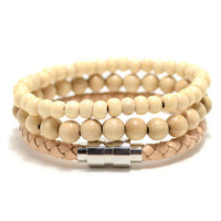 3 Pack 8mm/6mm/Leather Beige