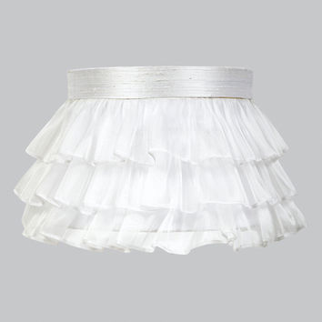 Jubilee Collection 4770 Ruffled Sheer White Lamp Shade