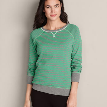 Women's Legend Wash Sweatshirt - Stripe | Eddie Bauer