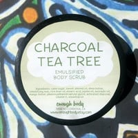 Activated Charcoal Tea Tree Emulsified Sugar Scrub ~ Body Scrub ~ Exfoliating Scrub ~ Body Polish