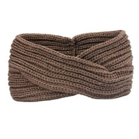 Turban Ear Warmer Headband - Latte