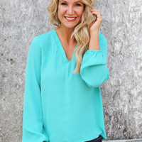 That Classic Blouse {Emerald}
