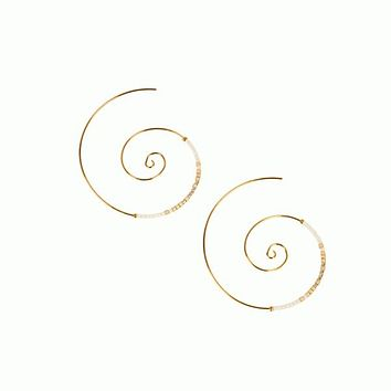 Spiral Threader Earrings
