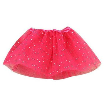 NOVO5 Baby Kids Girls Princess Stars Sequins Party Dance Ballet Tutu Skirts Star sequined skirt