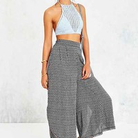 Ecote Dara Wide-Leg Pant- Black & White
