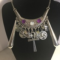Silver Egyptian handmade necklace/Free Shipping