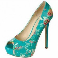 PEEP-TOE FLORAL PUMP-Heels-prom heels,high heels shoes,leopard heels,hot pink heels,cheap heels,party shoes heels,sexy heels,Platform Heels,high heel pumps,Wedge Heels,Flat Heels