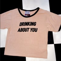 SWEET LORD O'MIGHTY! DRINKING ABOUT YOU RINGER TEE IN NUDE