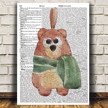 Bear print Grizzly art Animal poster Dictionary print RTA1315