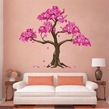 cik1513 Full Color Wall decal beautiful japanese cherry tree living room bedroom children