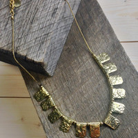 Textured Rectangle Necklace