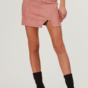 On The Run Suede Mini Skirt