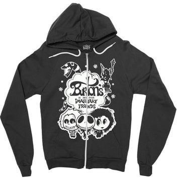 burton's imaginary friends Zipper Hoodie