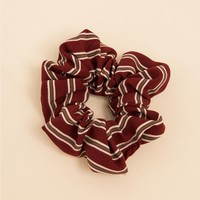 Striped Scrunchie Red