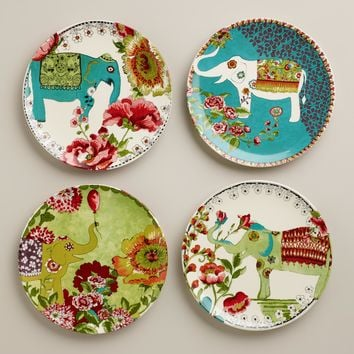 Nomad Elephant Plates, Set of 4 - World Market