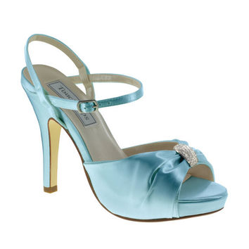 "Blue Wedding Shoes 3.75"" heels"