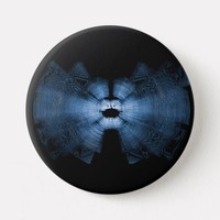 Flying Blue Bat Echolocation Button