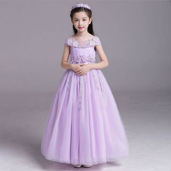Childrens evening gowns girl cinderella dress formal dress baby princess dresses party dresses for teenagers cinderella costume