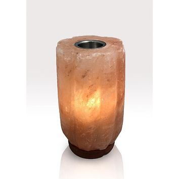 Round Bamboo Aromatherapy Himalayan Lamp with One Oil