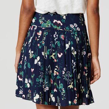 Valley Floral Pleated Skirt | LOFT