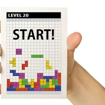 Personalized Video Game Greeting Card Tetris 20th by TheWallaroo
