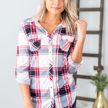 Checked Plaid Button Up- Multiple Options