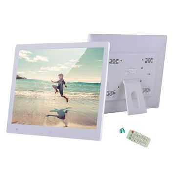 "16"" LED Digital Photo Frame 1600*1200 Support Multi-Languages Audio Video Clock Alarm Calendar Functions with Remote Control"