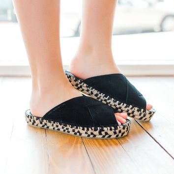 Free People Tuscan Slip On Espadrille -Black