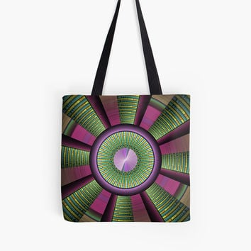 'Round and Colorful Fractal Pattern' Tasche by gabiwArt
