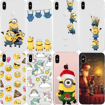 Minions for iPhone XR XS Max X 8 6 6S 5 7 Plus Case for Samsung Galaxy J3 J5 J7 2017 2018 A3 A5 A8 S5 S6 S7 Edge S8 S9 Plus