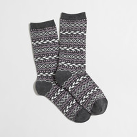 Factory diamond fair isle trouser socks : Socks & Tights | J.Crew Factory