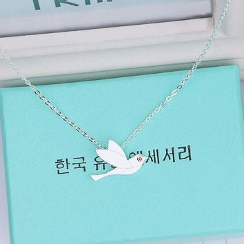 Gift New Arrival Jewelry Shiny Stylish 925 Silver Simple Design Pendant Accessory Korean Fashion Necklace [8080535303]