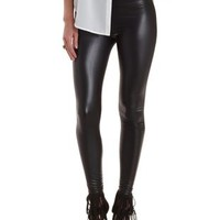 Black High-Waisted Liquid Leggings by Charlotte Russe