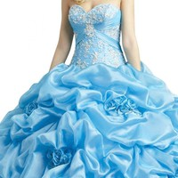 Gorgeous Bridal 2015 Quinceanera Organza Sweetheart Ball Gown Lace-up Back