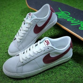 Nike Blazer SB Grey Red Sport Shoes - Best Online Sale