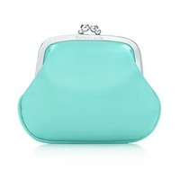 Tiffany & Co. -  Coin purse in Tiffany Blue® patent leather.