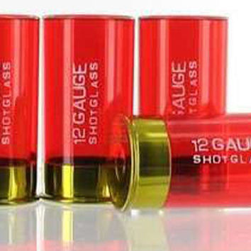 12 Gauge Shotgun Shell Shot Glass - Pack of 4