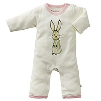 Pink Bunny - Organic Baby Winter Jumpsuit