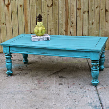 Bayside Blue/ Coffee Table/ Table/ Vintage by AquaXpressions