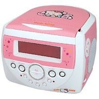 HELLO KITTY KT2053 AM/FM Stereo Alarm Clock Radio with Top Loading CD Player