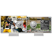 Troy Polamalu Silver Coin Card