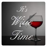 It's Wine Time Wall Clock