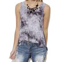 Lace Sides Tye Dye Tank  | Shop Just Arrived at Wet Seal