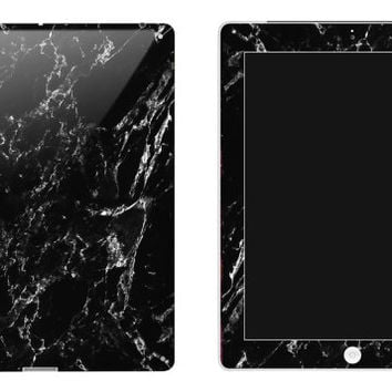 Black Marble iPad Decal Skin iPad decal sticker iPad Cover Flowers Mint Blue iPad Mini skin iPad Air skin